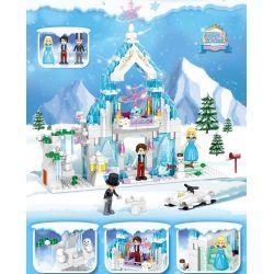 ZHEGAO QL1147 1147 Xếp hình kiểu Lego DISNEY PRINCESS Windsor Castle Iraa Snow Castle Lâu đài Tuyết Ilaya 325 khối