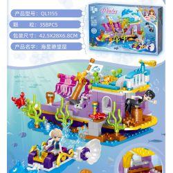 ZHEGAO QL1155 1155 Xếp hình kiểu Lego DISNEY PRINCESS Windsor Castle Starfish Watching House Ngôi Nhà Của Starfish Lookout 358 khối