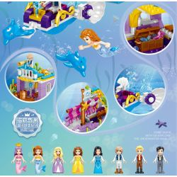 ZHEGAO QL1155 1155 Xếp hình kiểu Lego DISNEY PRINCESS Windsor Castle Starfish Lookout House Ngôi Nhà Của Starfish Lookout 358 khối