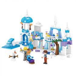 ZHEGAO QL1162 1162 Xếp hình kiểu Lego DISNEY PRINCESS Windsor Castle Ice And Snow Fantasy Castle Lâu đài Tưởng Tượng Băng Và Tuyết 259 khối