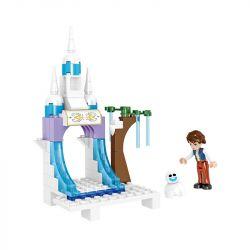 ZHEGAO QL1162 1162 Xếp hình kiểu Lego DISNEY PRINCESS Windsor Castle Ice Fantasy Castle 259 khối