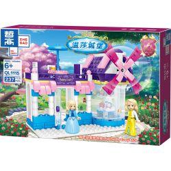 ZHEGAO QL1115 1115 Xếp hình kiểu Lego Windsor Castle Windmill Dessert House Nhà Tráng Miệng Cối Xay Gió 237 khối