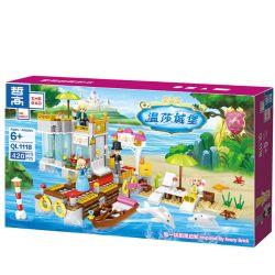 ZHEGAO QL1118 1118 Xếp hình kiểu Lego Windsor Castle Fairy Island Holiday Home Nhà Nghỉ Mát ở Đảo Tiên 420 khối