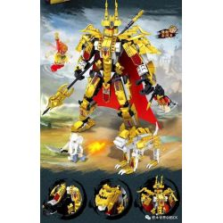 ZHEGAO QL1636 1636 Xếp hình kiểu Lego MONKIE KID Journey To The West Erlang God Vs. Roc Bird Elephant Spirit Thần Erlang Vs Thần Voi Roc Bird 611 khối