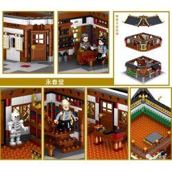 ZHEGAO QL0977 0977 Xếp hình kiểu Lego MODULAR BUILDINGS Chinese Street-View Chinese Street View Yongchuntang 2529 khối