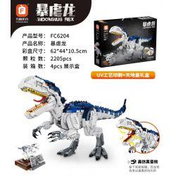 FORANGE FC6204 6204 GAOMISI T2010 2010 QIZHILE 30009 Xếp hình kiểu Lego CREATOR Indominus Rex Dinosaur World Malicious Dragon Khủng Long Bạo Chúa 2205 khối