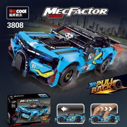 Decool 3808 Jisi 3808 Xếp hình kiểu Lego TECHNIC MecFactor Blue Outfit-urban Hurricane Pull Back Car Trang Phục Màu Xanh-đô Thị Cơn Bão Kéo Xe Trở Lại 521 khối
