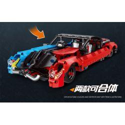 Decool 3809 Jisi 3809 Xếp hình kiểu Lego TECHNIC MecFactor Red Outfit-retro Sports Car Trang Phục Màu đỏ-xe Thể Thao Cổ điển 501 khối