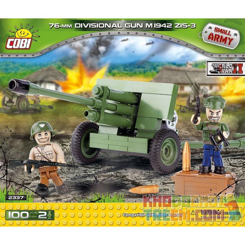 COBI 2337 Xếp hình kiểu Lego MILITARY ARMY 76 Mm Divisional Gun M 1942 ZIS-3 76mm Gun M1942 ZiS-3 Cannon Pháo 76mm M1942 Pháo ZiS-3 100 khối