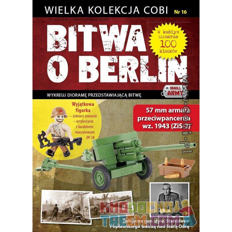 COBI WD-5565 5565 WD5565 Xếp hình kiểu Lego MILITARY ARMY ZiS-2 - Battle Of Berlin No. 16 ZiS-2-Battle Of Berlin No. 16 ZiS-2-Trận Berlin Số 16 100 khối