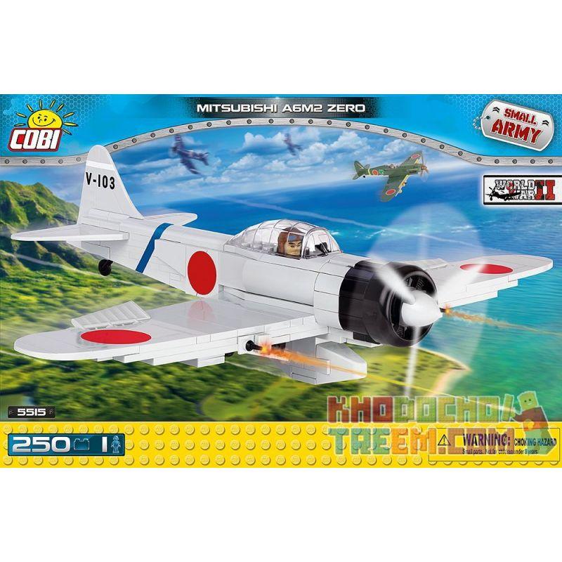 COBI 5515 Xếp hình kiểu Lego MILITARY ARMY Mitsubishi A6M2 Zero Zero Carrier Fighter Máy Bay Chiến đấu Số 0 250 khối
