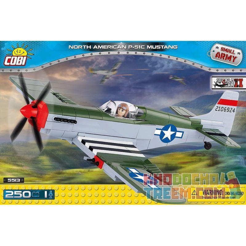 COBI 5513 Xếp hình kiểu Lego MILITARY ARMY North American P-51C Mustang P-51 Mustang Fighter Máy Bay Chiến đấu P-51 Mustang 250 khối
