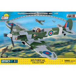 COBI 5512 Xếp hình kiểu Lego MILITARY ARMY Supermarine Spitfire Mk VB 290 khối