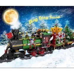 MOULDKING MOULD KING 12012 Xếp hình kiểu Lego SEASONAL Merry Christmas Yudar Christmas Christmas Trains Chuyến Tàu Giáng Sinh 1296 khối