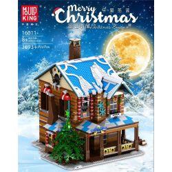 MOULDKING MOULD KING 16011 Xếp hình kiểu Lego SEASONAL Merry Christmas Christmas House Yudar Christmas Christmas Cottage Nhà Tranh Giáng Sinh 3693 khối