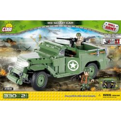 COBI 2368 Xếp hình kiểu Lego MILITARY ARMY M3 Scout Car M3 Reconnaissance Car Xe Trinh Sát M3 300 khối