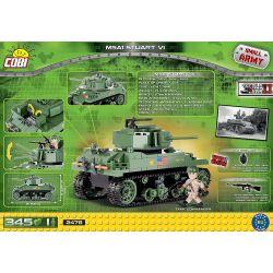 COBI 2478 Xếp hình kiểu Lego MILITARY ARMY M5A1 Stuart VI M5A1 Stuart Tank Xe Tăng M5A1 Stuart 345 khối