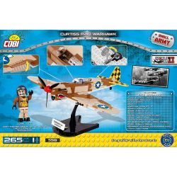 COBI 5519 Xếp hình kiểu Lego MILITARY ARMY Curtiss P-40 Warhawk P-40 Warhawk Fighter Máy Bay Chiến đấu P-40 Warhawk 256 khối