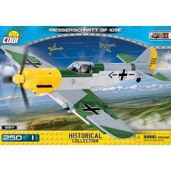 COBI 5517 Xếp hình kiểu Lego MILITARY ARMY Messerschmitt Bf 109 E Messerschmitt Bf 109 Fighter Máy Bay Chiến đấu Messerschmitt Bf 109 250 khối