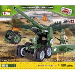 COBI 2369 Xếp hình kiểu Lego MILITARY ARMY 155 Mm Gun M1 Long Tom M59 Cannon Pháo M59 155 khối