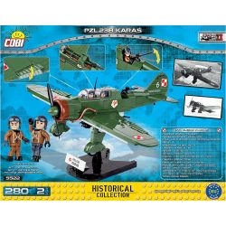 COBI 5522 Xếp hình kiểu Lego MILITARY ARMY PZL P23B Karaś PZL.23 Karaś 280 khối