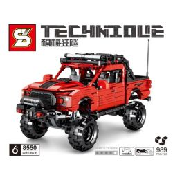 SHENG YUAN SY 8550 Xếp hình kiểu Lego TECHNIC Technique Mechanical Frenzy Ford Raptor Pull Back Ford Raptor Kéo Trở Lại 989 khối