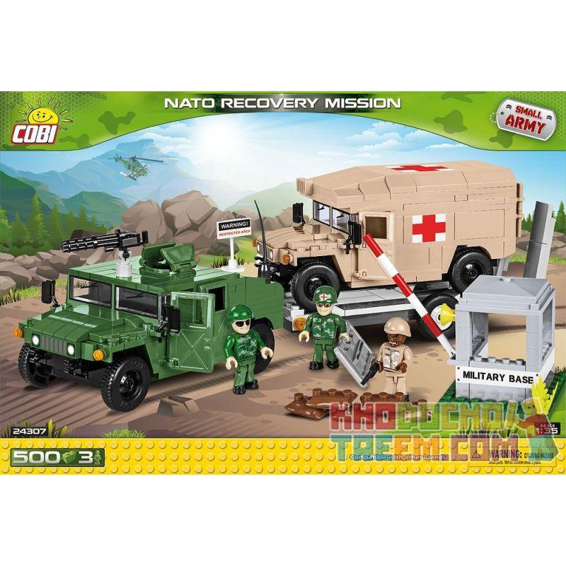 COBI 24307 Xếp hình kiểu Lego MILITARY ARMY NATO Recovery Mission NATO Rescue Mission Nhiệm Vụ Giải Cứu NATO 500 khối