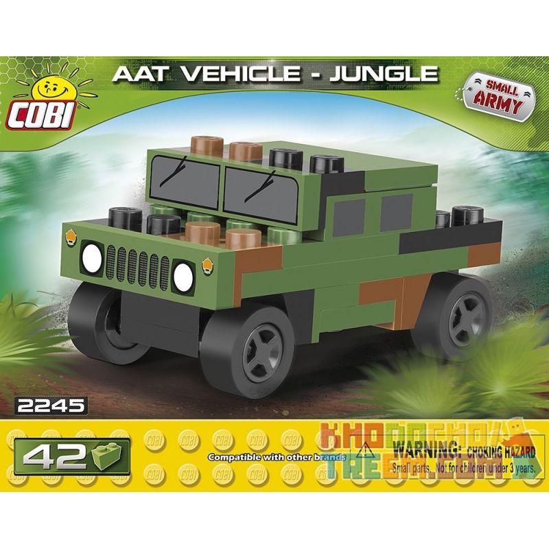 COBI 2245 Xếp hình kiểu Lego MILITARY ARMY NATO AAT Vehicle Jungle Nano NATO Armored All-terrain Vehicle Jungle Mini NATO Bọc Thép Xe Mọi địa Hình Rừng Mini 42 khối