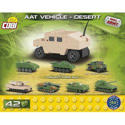 COBI 2244 Xếp hình kiểu Lego MILITARY ARMY NATO AAT Vehicle Desert Nano NATO Armored All-terrain Vehicle Desert Mini NATO Bọc Thép Xe địa Hình Sa Mạc Mini 42 khối