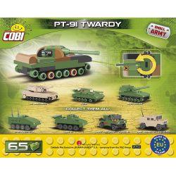 COBI 2243 Xếp hình kiểu Lego MILITARY ARMY PT-91 Twardy Nano PT-91 Main Battle Tank Mini Xe Tăng Chiến đấu Chủ Lực PT-91 Mini 65 khối