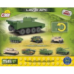 COBI 2241 Xếp hình kiểu Lego MILITARY ARMY LAV III APC Nano LAV-3 Armored Vehicle Mini Xe Bọc Thép LAV-3 Mini 56 khối