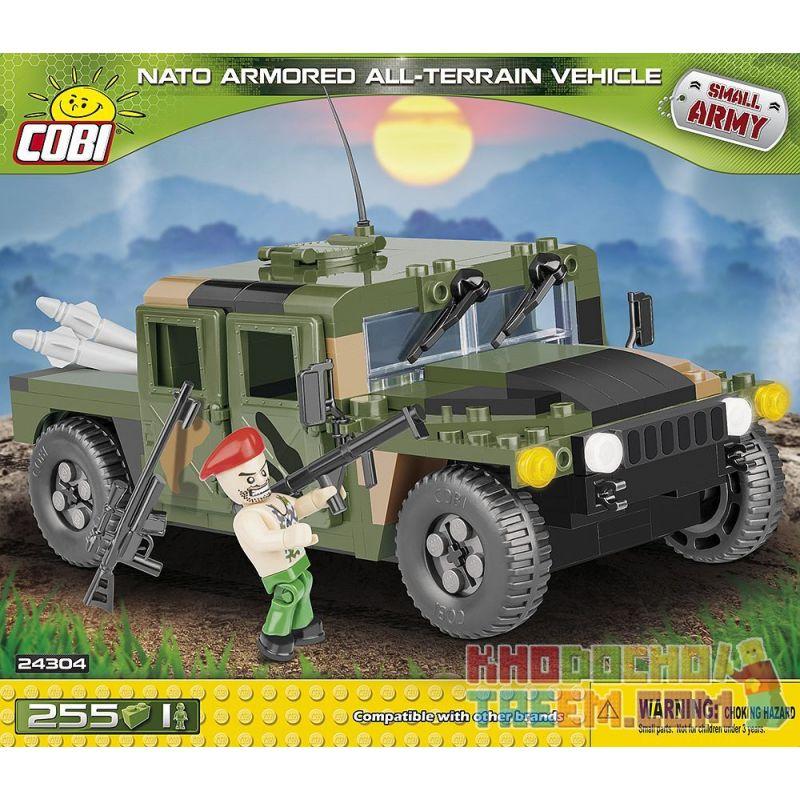 COBI 24304 Xếp hình kiểu Lego MILITARY ARMY NATO Armored All-Terrain Vehicle Xe Bọc Thép Mọi địa Hình Của NATO 255 khối