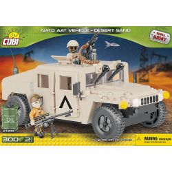 COBI 24303 Xếp hình kiểu Lego MILITARY ARMY NATO AAT Vehicle Desert Sand NATO Armored All-terrain Vehicle Sand Xe Cát Chạy Trên Mọi địa Hình Của NATO 300 khối