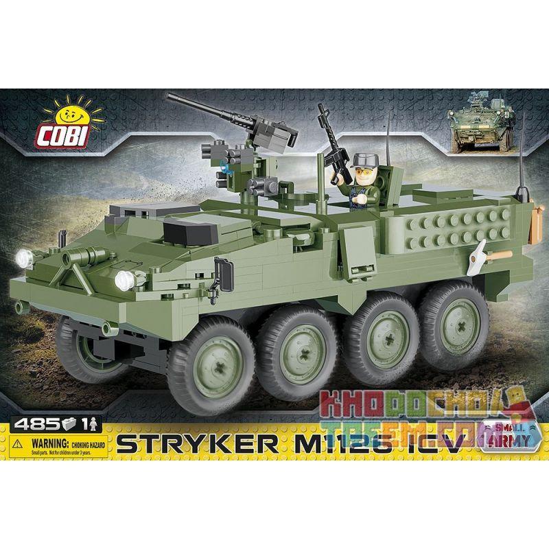 COBI 2610 Xếp hình kiểu Lego MILITARY ARMY Stryker M1126 ICV M1126 Armored Personnel Carrier Tàu Sân Bay Bọc Thép M1126 485 khối