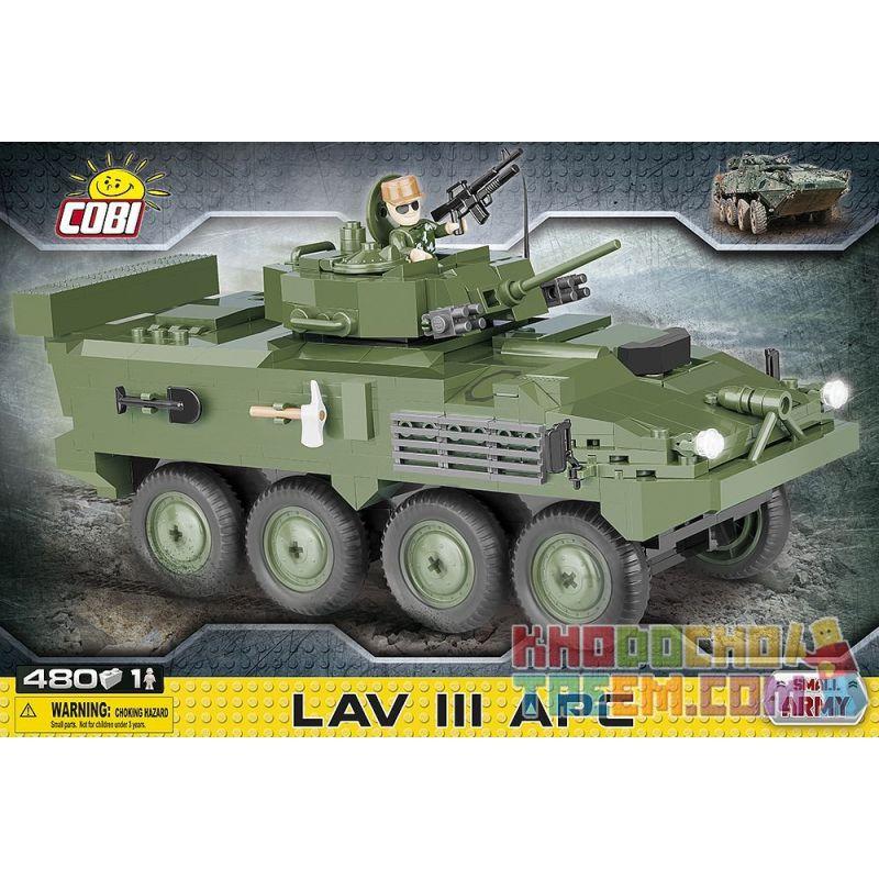 COBI 2609 Xếp hình kiểu Lego MILITARY ARMY LAV III APC LAV-3 Armored Vehicle Xe Bọc Thép LAV-3 480 khối