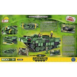 COBI 2498 Xếp hình kiểu Lego MILITARY ARMY Stridsvagn 103C S Tank Xe Tăng S 600 khối