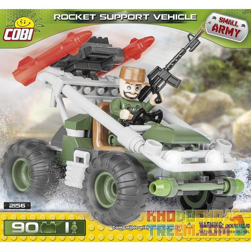 COBI 2156 Xếp hình kiểu Lego MILITARY ARMY Rocket Support Vehicle Xe Hỗ Trợ Tên Lửa 90 khối