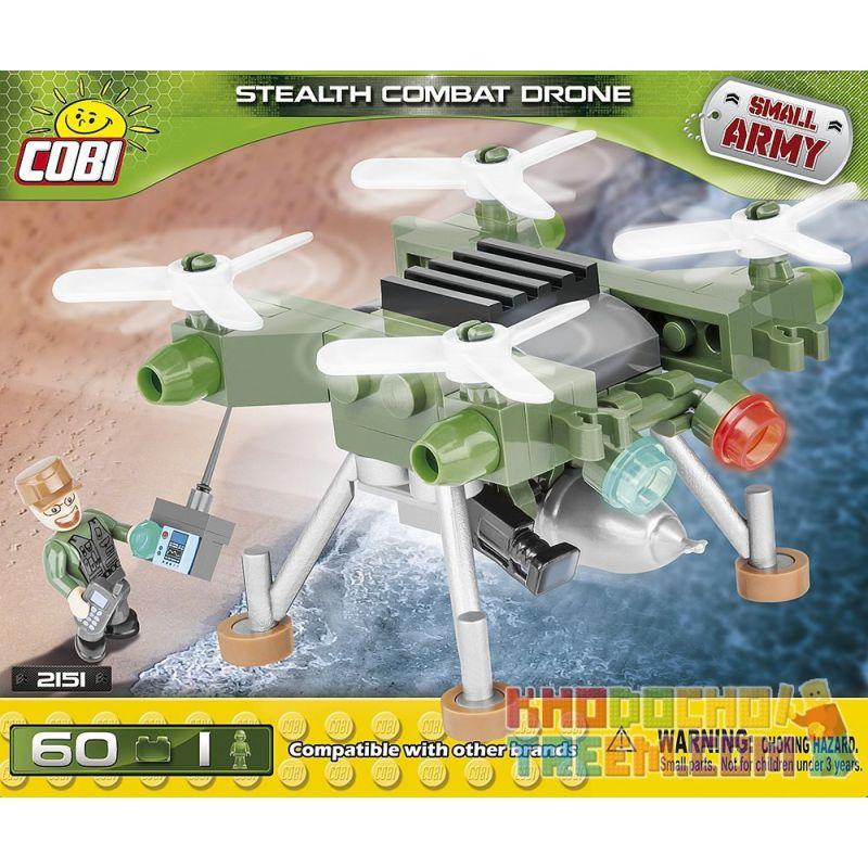 COBI 2151 Xếp hình kiểu Lego MILITARY ARMY Stealth Combat Drone Máy Bay Không Người Lái Chiến đấu Tàng Hình 60 khối