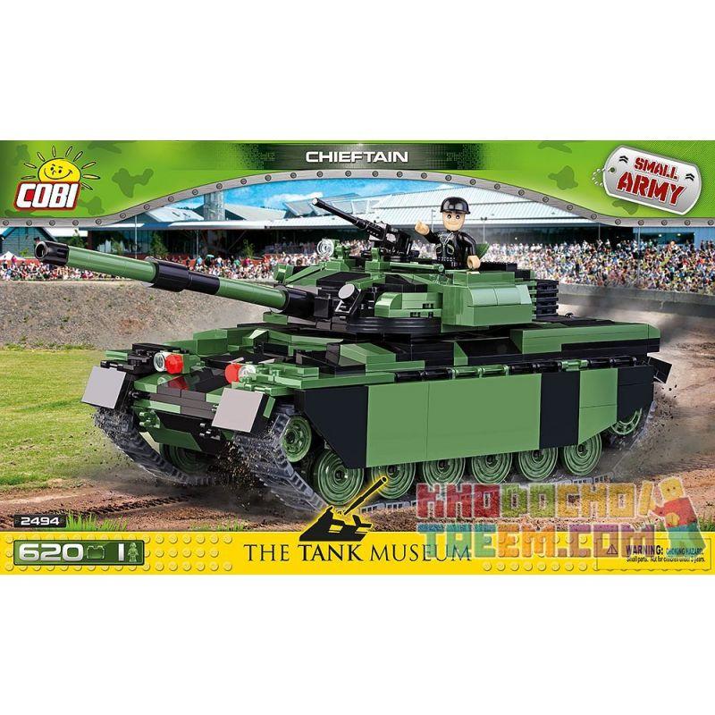COBI 2494 Xếp hình kiểu Lego MILITARY ARMY Chieftain Chief Tank Xe Tăng Trưởng 620 khối