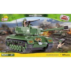 COBI 2488 Xếp hình kiểu Lego MILITARY ARMY M46 Patton Tank Xe Tăng M46 Patton 520 khối