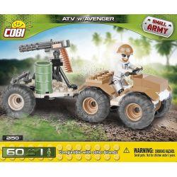 COBI 2150 Xếp hình kiểu Lego MILITARY ARMY ATV W Avanger ATV W Avengers 60 khối