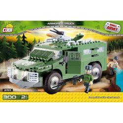 COBI 2414 Xếp hình kiểu Lego MILITARY ARMY Armored Truck Xe Bọc Thép 300 khối