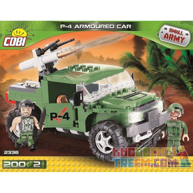 COBI 2336 Xếp hình kiểu Lego MILITARY ARMY P-4 Armoured Car P-4 Armored Car Xe Bọc Thép P-4 200 khối