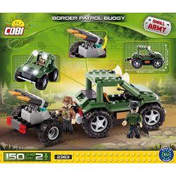 COBI 2363 Xếp hình kiểu Lego MILITARY ARMY Border Patrol Buggy Border Patrol Vehicle Xe Tuần Tra Biên Giới 150 khối