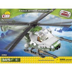 COBI 2362 Xếp hình kiểu Lego MILITARY ARMY Eagle Attack Helicopter Trực Thăng Tấn Công đại Bàng 150 khối