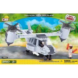 COBI 2360 Xếp hình kiểu Lego MILITARY ARMY Vertical Take Off Plane Vertical Take-off And Landing Aircraft Máy Bay Cất Và Hạ Cánh Thẳng đứng 250 khối
