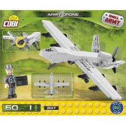 COBI 2147 Xếp hình kiểu Lego MILITARY ARMY Army Drone Military Drone Máy Bay Không Người Lái Quân Sự 60 khối