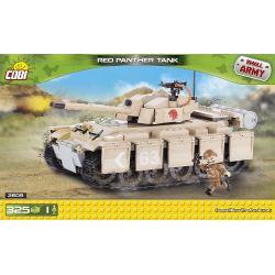 COBI 2605 Xếp hình kiểu Lego MILITARY ARMY Red Panther Tank Red Leopard Tank Xe Tăng Báo đỏ 325 khối