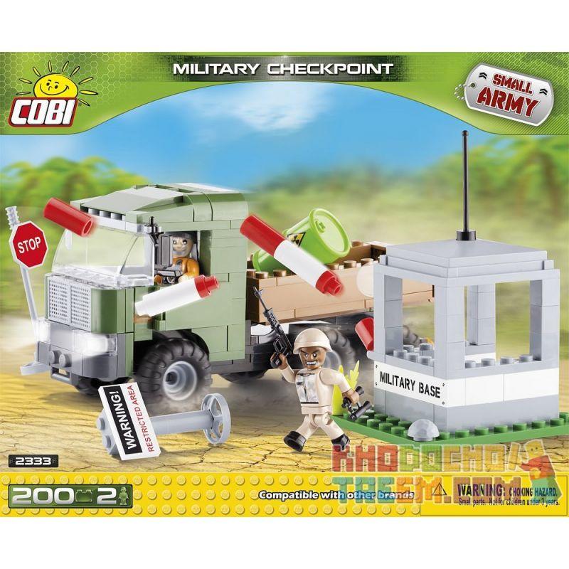 COBI 2333 Xếp hình kiểu Lego MILITARY ARMY Military Checkpoint Trạm Kiểm Soát Quân Sự 200 khối