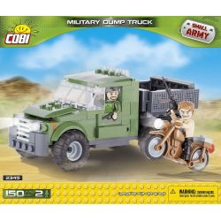 COBI 2345 Xếp hình kiểu Lego MILITARY ARMY Military Dump Truck Xe Ben Quân Sự 150 khối